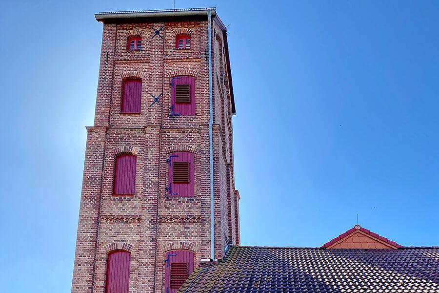 Jatznick - Feuerwehrturm Nahaufnahme